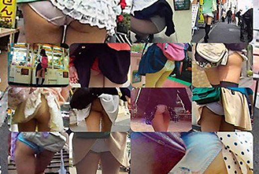 うっかりパンモロ娘 カバンやパンストにスカート引っ掛けちゃったおっちょこちょいな女の子たち